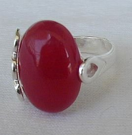 Red and silver ring A