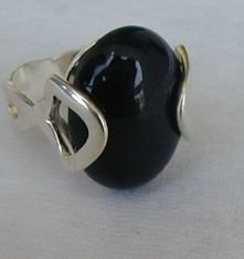 Black and silver ring A