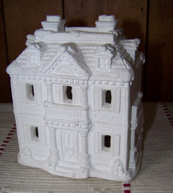 Plaster Village House Ready to Paint - Unfinished California Creations