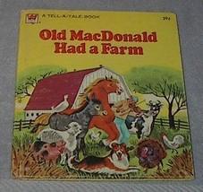 Children's Classic Tell A Tale Book Old MacDonald Had a Farm - $5.00
