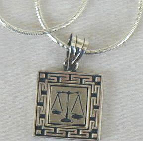 Libra zodiac silver  pendant