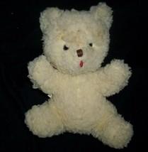 "10"" VINTAGE EDEN CREME TEDDY BEAR RATTLE CHIME STUFFED ANIMAL PLUSH TOY ... - $42.08"