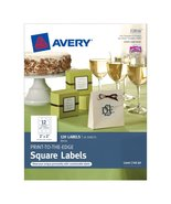 """Avery Square Labels for Laser & Inkjet Printers, Print-to-The-Edge, 2"""" x... - $9.99"""