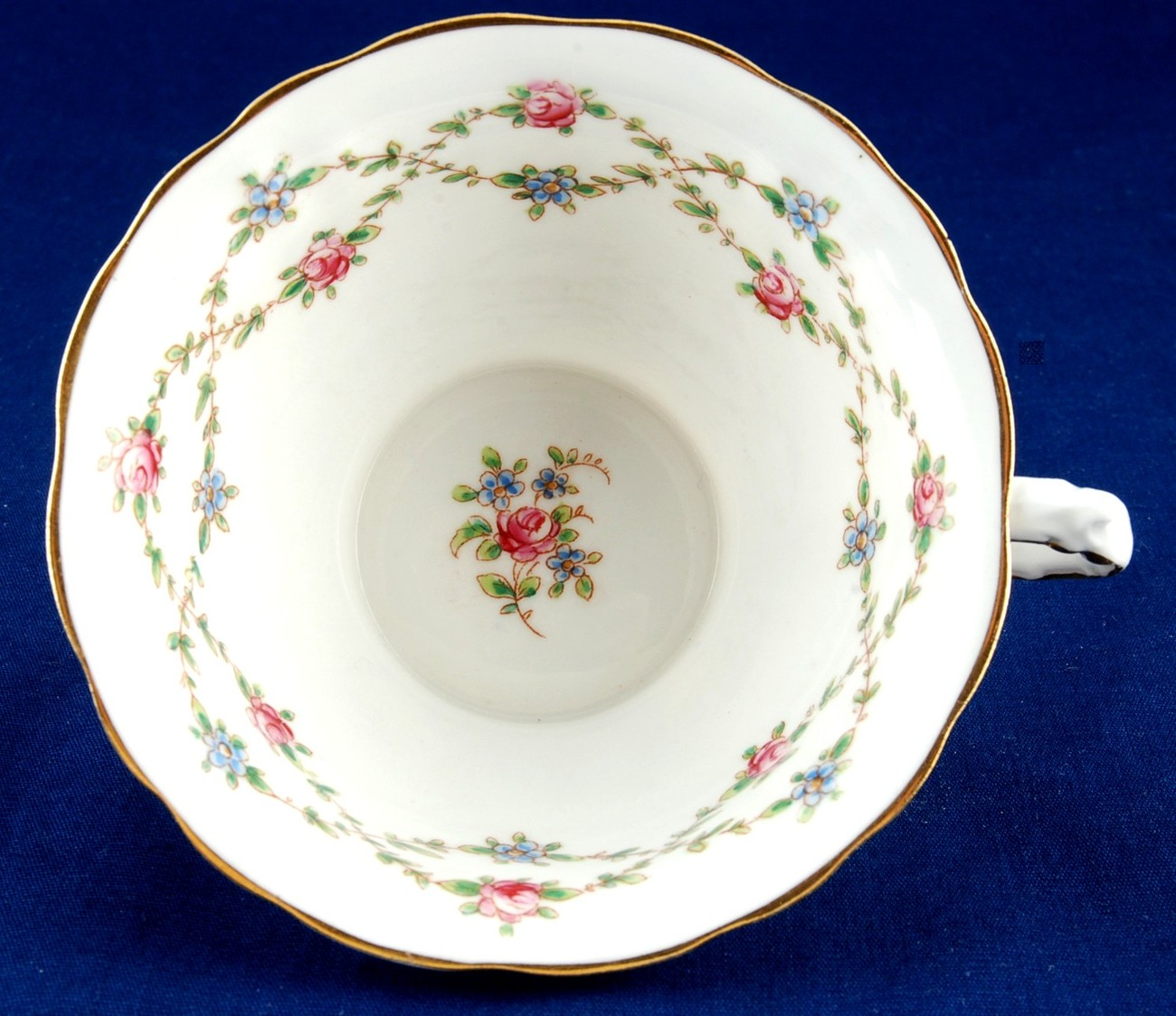 Pointons Hand Painted Cup & Saucer Roses England China 3444