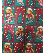 "Christmas Teddy Bears Trees Stars Decorations Green Red Mens Tie 59"" - $11.60"