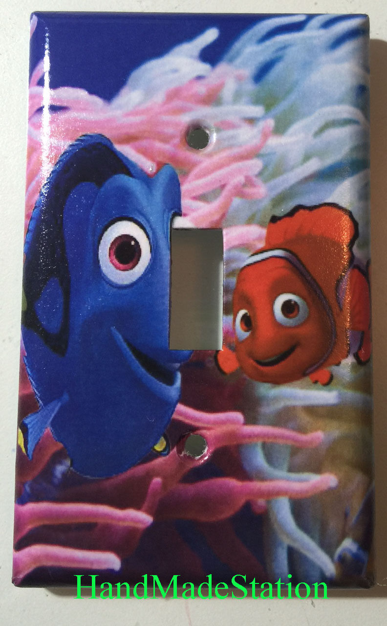 Finding Nemo & Dory Light Switch Power Outlet Wall Cover Plate Home decor