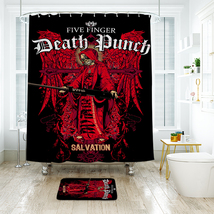 The Reaper Shower Curtain Waterproof Polyester Fabric & Bath Mat For Bathroom - $16.30+