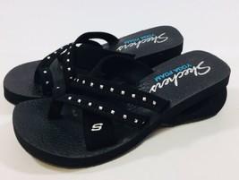bc10d089cdd Skechers Yoga Foam Womens size 9M Black Studded Multi Strap Flip Flop Sa...  Add to cart · View similar items