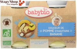 Babybio Pots Douceur de Pomme d'Aquitaine/Banane 260 g - Lot 6  - $18.07