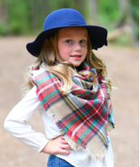 Girls Light Brown Plaid Blanket Scarf Accessory MSRP $30.00 YOU SAVE $12.01 - $18.99