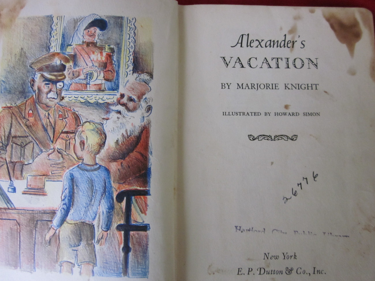 Alexander's Vacation by Marjorie Knight Vintage Book