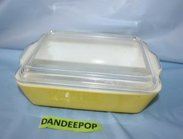 Vintage Glass Original Yellow Pyrex Casserole Covered Baking Dish 603-B ... - $24.74