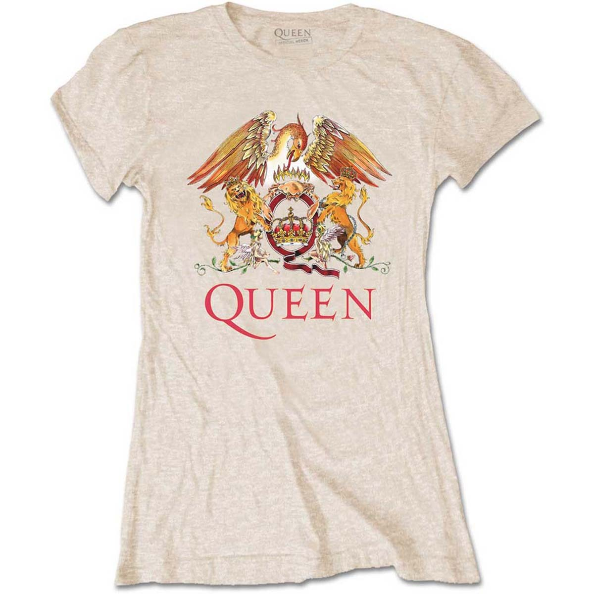 Primary image for Ladies Sand Queen Crest Freddie Mercury Official Tee T-Shirt Womens Girls