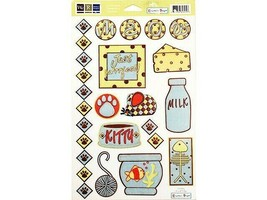 We R Memory Keepers Embossed Cat-Related Cardstock Pieces