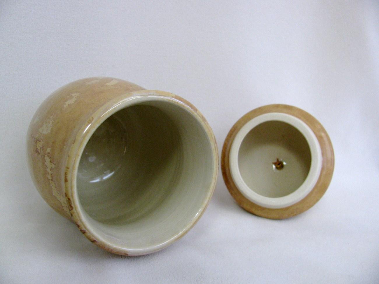 Lidded Porcelain Vessel Crystalline Glaze RKC041