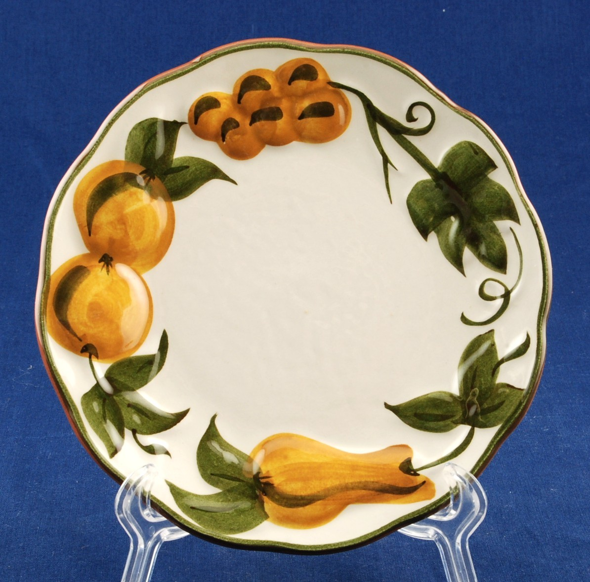 Stangl sculp fruit bread plate