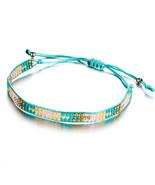 Bohemia Beads Weave Rope Friendship (6), Fashion Round Charm Pendant 17K - $8.89