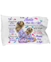To My Aunt Pillowcase Gift From Niece Pillow case Covering For Birthday  - $23.99