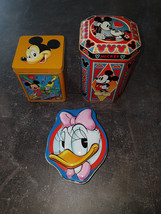 Extremely Rare! Walt Disney Mickey Mouse and Donald Duck Old Metal Tin B... - $91.07