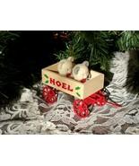 TEDDIES in  WOODEN WAGON Ornament - Too Cute! - £0.71 GBP