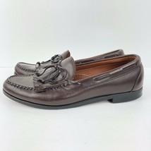 ALLEN EDMONDS Alameda Leather Kiltie Lace Loafers Sz 10D Brown Dress Shoes  - $23.33