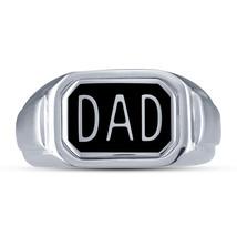 Mens Dad Wedding Anniversary Pinky Ring Band 14k White Gold Finish 925 S... - $84.99