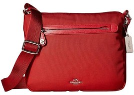 COACH NYLON MESSENGER TRUE RED CROSSBODY BAG - $125.73