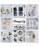 Stampin' Up! Set Choose From Designs! Retired Wood Mount Stamps Scrapboo... - $5.72+