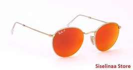 Ray Ban 3447 112/4D Very Rare Gold Orange Polarized Sunglasses 50mm New ... - $121.51