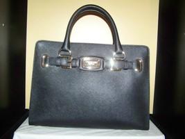 Michael Kors Hamilton EW Satchel Crossgrain Leather Crossbody Bag $298 B... - $145.95