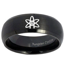 American Atheist 8mm Brushed Black Dome Tungsten Carbide Ring - $39.99