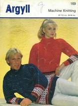 Argyll Machine Knitting Leaflet 169 HIS & HERS SKI SWEATERS Classic Desi... - $9.79