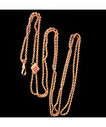 "Antique Victorian Slide Pocketwatch chain - 44"" LONG gold filled slide w... - $325.00"
