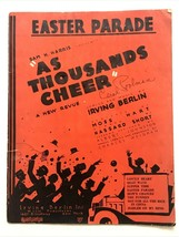 Come Migliaia Cheer 1933 Easter Sfilata Irving Berlino Mostra Vintage Sp... - $6.94