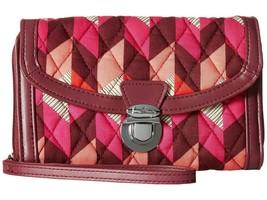 Vera Bradley NWT Wallet Wristlet Bohemian Chevron Push Lock Zip Around - $40.58