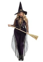 Party King Midnight Violet Witch Sexy Wicked Laces Halloween Plus Costum... - $69.99