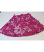 W12498 Womens CALVIN KLEIN JEANS Pink Flower Print A LINE SKIRT Knee Len... - $28.97
