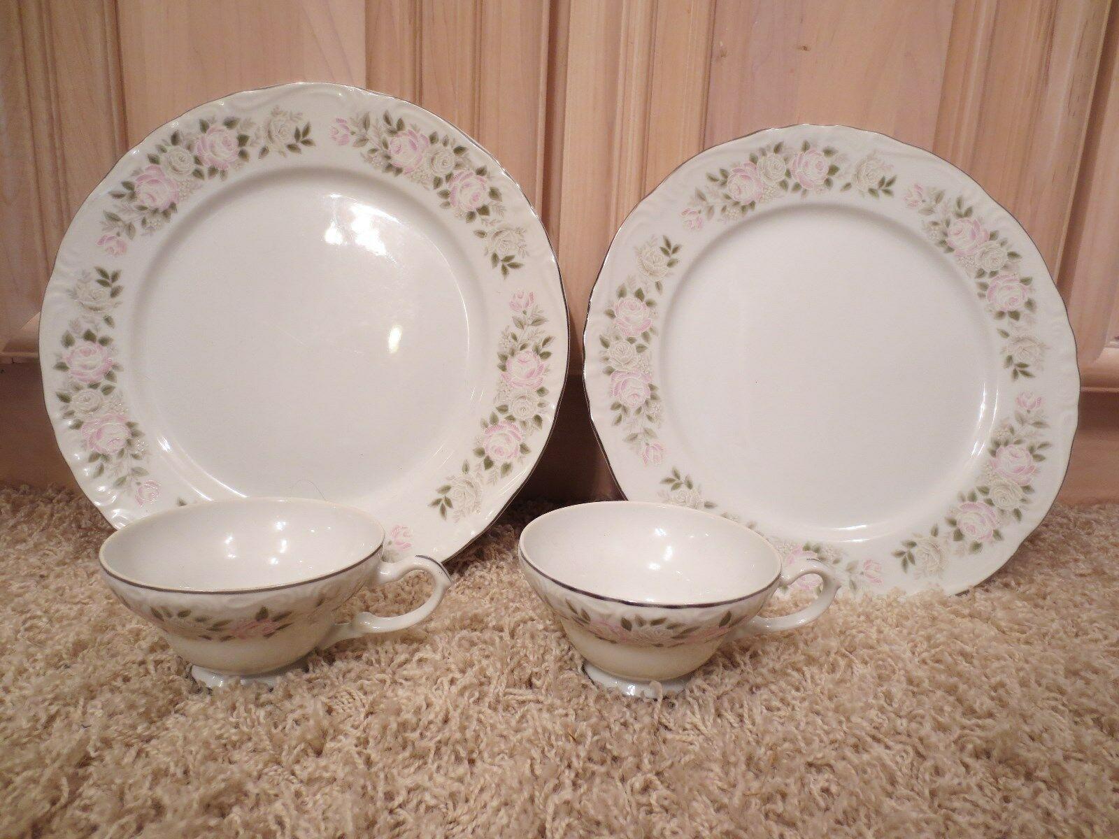 Vintage Sheffield Fine China Classic 501 Japan -- 2 plates & 2 teacups - $29.99