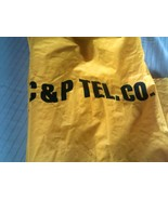 C&P TELEPHONE ~ Yellow Rain Gear Lot of 3 ~ Hooded Jacket & 2 Coverall P... - $39.58