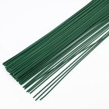 50pcs 2mm 40cm Dark Green wire artificial silk flowers stem DIY Handmade... - $14.95