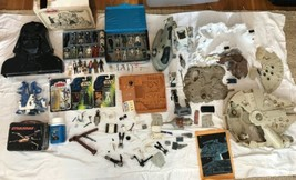 Huge Lot Vintage Star Wars Action Figures Cases Lunchbox Falcon Lego Pla... - £681.35 GBP