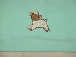Blankets & and Beyond Vintage Fleece Lamb Sheep Mint Green Fleece Baby L... - $49.49