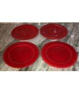 "Royal Norfolk 7 1/2"" Dessert Snack Plates Set Of 4-Red Christmas Valenti... - $48.88"