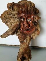 Antique Black Forest HandCarved Wooden German Root face Hobbit Gnome deco image 2