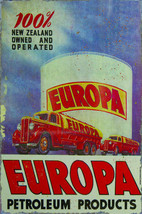 Europa Petroleum Products New Zealand Owned Metal Sign - $29.95