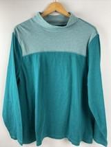 T by Talbots Top 2X Green Activewear Long Sleeve Sweatshirt 100% Cotton ... - $32.67