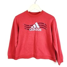 Adidas Youth Large Red Sweatshirt Holidays Christmas Snowflakes Winter (... - $12.50