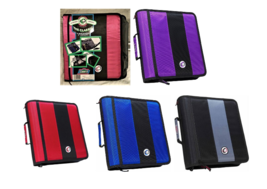 """Case-it The Classic 2"""" Binder 3 Rings Strap W-221 Pink Red Blue Black Pu... - $21.88"""