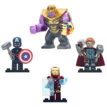 4pcs/set Thanos with Iron Man Thor and Captain America Marvel Endgame Lego Toy - $11.99