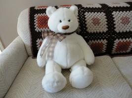 Gund 2004 Jumbo ELDIN BEAR Over 2 Feet Tall White Plush Nr 15262 RARE - $338.45